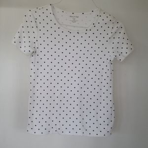 White Stag Black & White Polka Dot Top Sz 4-6